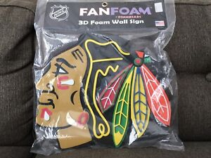 Chicago Blackhawks Fan foam wall art large bnib