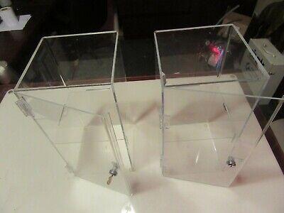 D92 Acrylic Box Jewelry Display Box 8 X 8 X 16 Lot Of 2 Free Shipping