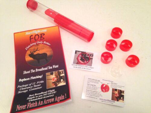 NEW 12-Pack StarrFlight FLETCHING FOB ARROW ARCHERY Hunting For Fall Away Rests
