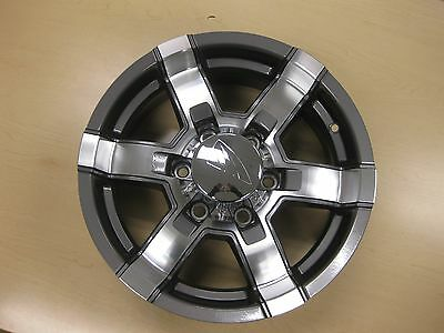 16X6 6-5.5 HI SPEC ALUM TRAILER WHEEL 581 GUN GREY 3200 LBS 581-66655G