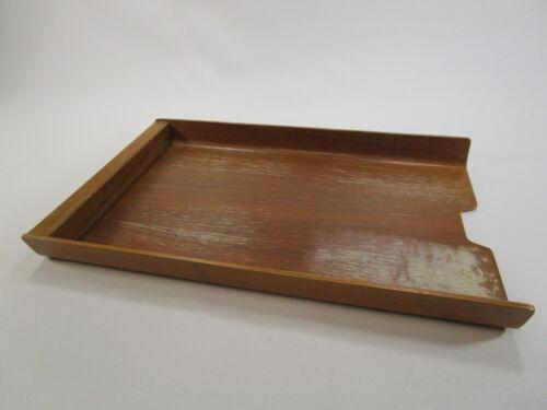 Mid century rainbow wood products teak paper tray Sweden