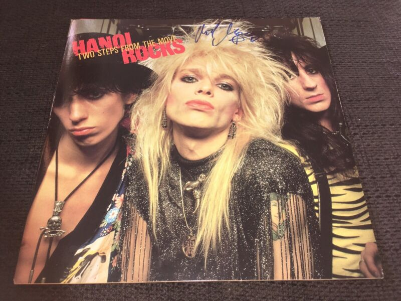 HANOI ROCKS Michael Monroe signed Autogramm TWO STEPS FROM THE MOVE signiert IP