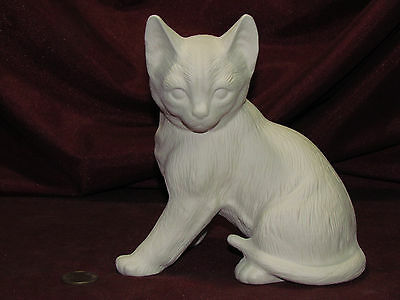 Ceramic Bisque Sitting Cat Kitten Ready to Paint Unpainted U-Paint