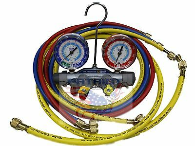Yellow Jacket 49987 Titan 4-valve Manifold With 60 Hoses R22134a404a - F
