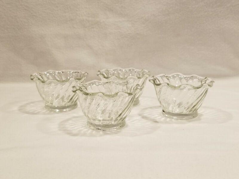 Mayonnaise Bowl - Colony Pattern - Fostoria Elegant Glass - Vintage - Set of 5