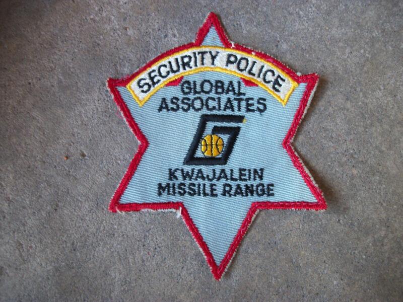 vintage 1968 Vietnam Global Associates Kwajalein Missile Range Guam police patch