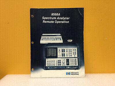 Hp Agilent 08568-90003 8568a Spectrum Analyzer Remote Operation