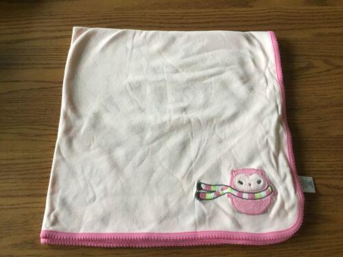 NWOT! Gymboree Pink Owl Scarf Cotton Baby Receiving Blanket