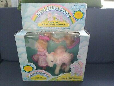 RARE Vintage 1988 My Little Pony Megan & Twice as Fancy Sundance in original box