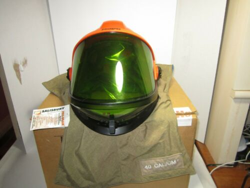 Salisbury by Honeywell 40 Cal Arc Flash Lift Front Hood w/ Hard Hat LFT40