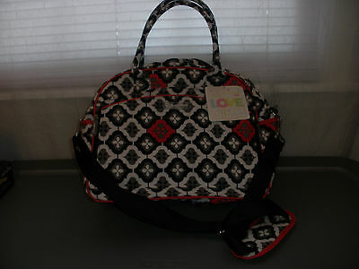 Bumble Dana Daytripper Diaper Bag Tote Bags LARGE RED WHITE BLACK