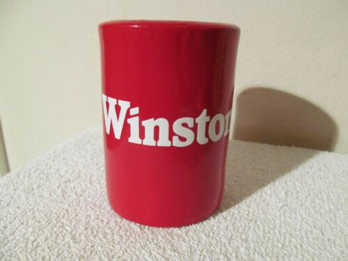 VERY RARE!!!  (2) WINSTON CIGARETTES VINTAGE 1979 RUBBERIZED COOLIE/COOZIE NEW