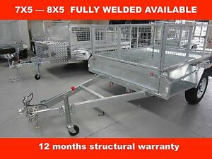 7x5 FULLY WELDED SINGLE AXLE HOT DIP GALVANISED TRAILER Dandenong South Greater Dandenong Preview