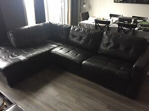 Large black sectional sofa