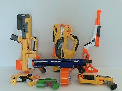 Nerf Gun Blaster Lot Of 7 Rampage Deploy  CS6 Firefly Sharpfire Tested Works