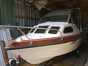 Stejcraft 15ft cuddy cabin boat 70hp johnson swap Underwood Launceston Area Preview