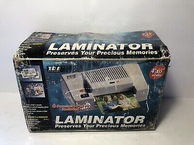 Tde Systems Hl-406 4x6 Laminator Perfect For Ids Badges Prompt Cards Tested