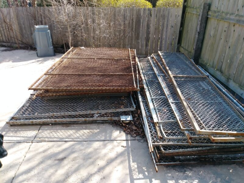 Heavy duty tool cage from machine shop, Construction Fencing,