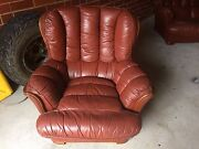 Leather sofa/couch and matching armchair Richmond Yarra Area Preview
