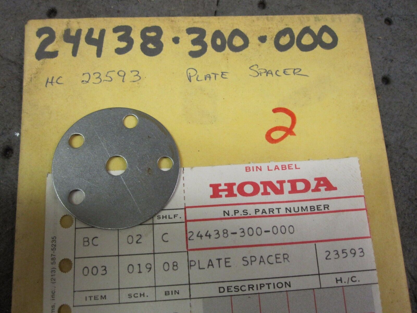NOS Honda 69-76 CB 750  Gear Shift Drum Spacer Plate 24438-300-000