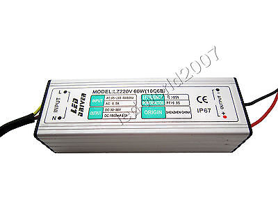 60w High Power Led Driver Constant Current Power Supply Dc 30v-36v 1800ma