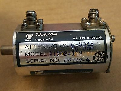 Telonic Altair 8120s-119 0-80db 10db-steps Rf Attenuator 50ohm Microwave Smaf
