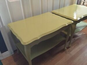 Side table set green