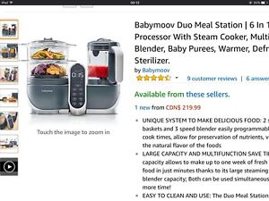 Babymoov Food Maker with Steam Cooker, Blend & Puree