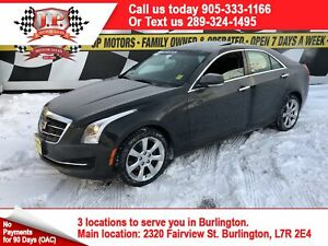 2015 Cadillac ATS Luxury, Auto, Navigation, Leather, AWD