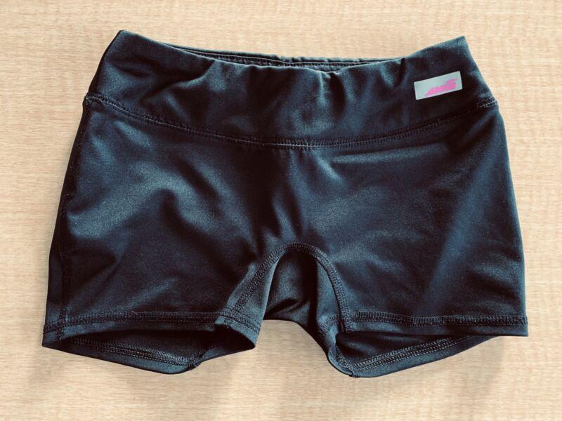 Avia Girls Child M 7-8 black Fitted Running Athletic Shorts Waist pocket Medium