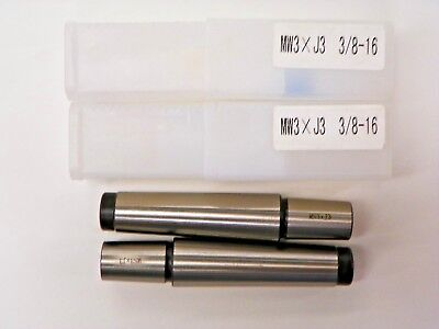 2 Pieces 3 Morse Taper To Jacobs 3 Drill Arbor B920