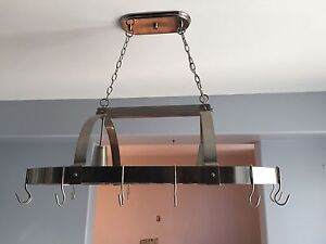 Chandelier with pot hooks