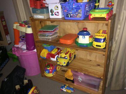 Pine timber book shelf
