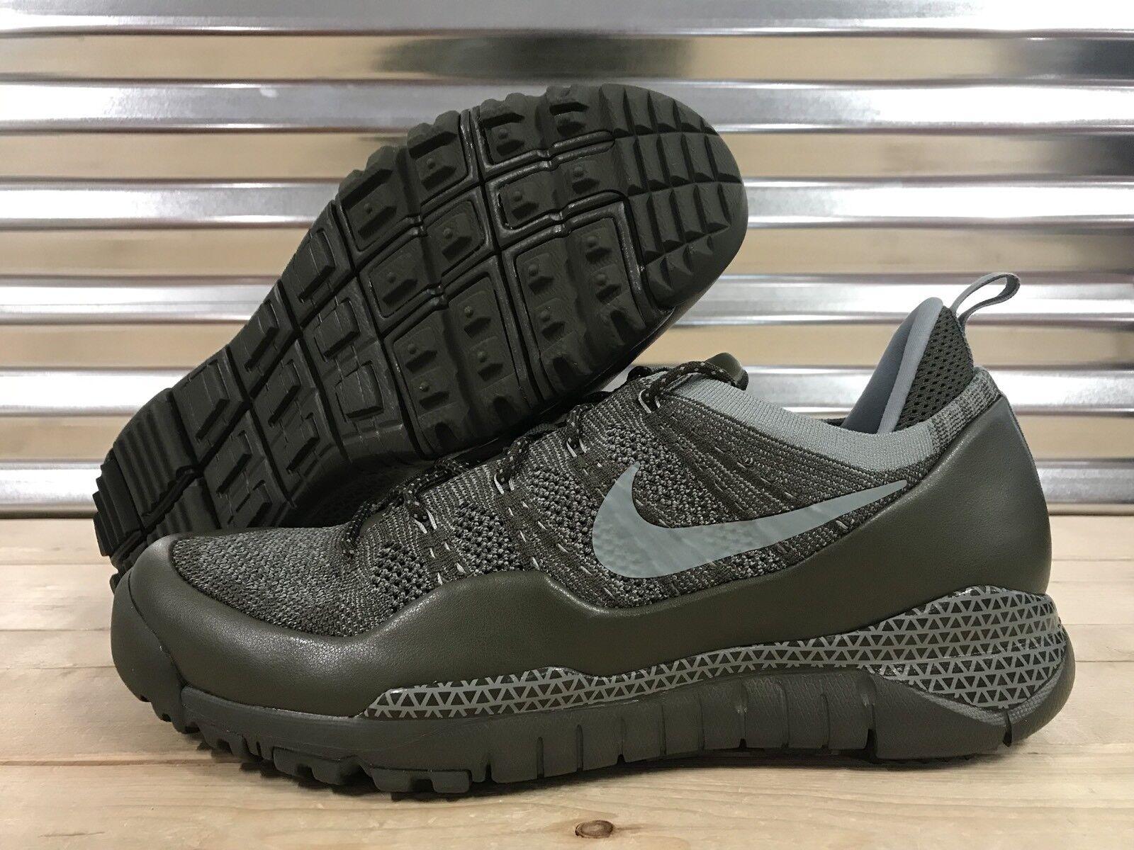 13858e642ee1 Nike Lupinek Flyknit Low Shoes Cargo Khaki Mica Green SZ 11 ( 882685-300 )