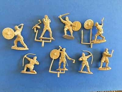 Conte Vikings Set #3 in all 8 poses. 2002. Marx & Barzso compatible. MIB