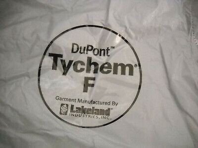 Dupont Tychem F Extra Large Coveralls Hazmat Suit New