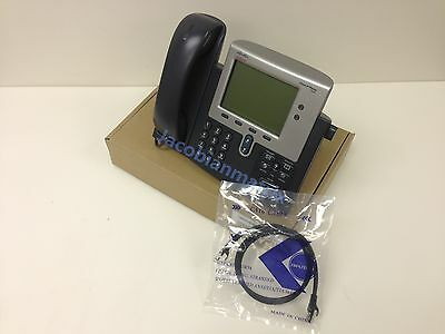 Cisco CP-7942G VOIP Phone + Phone CAT 6 cable + Warranty * Quantity Available*