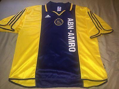 Ajax 2000-01 Away Adidas Soccer Football Jersey Size XL Short Sleeve image