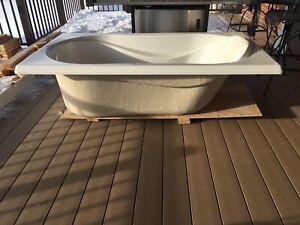 Drop in style bathtub