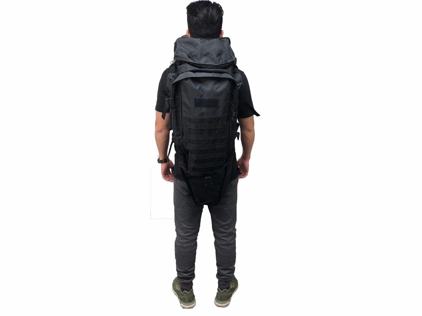 Tactical Backpack Black Rifle Gun Holder Trekking Hiking Bag