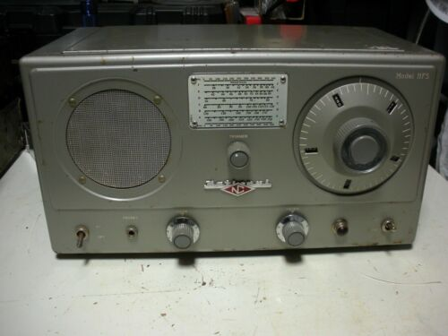 TESTED WORKING NATIONAL HRO MODEL HFS VHF RECEIVER ONLY COMPLETE WITH ALL COILS!