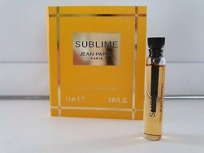 Jean Patou SUBLIME ladies Eau De Parfum 1.5ml Splash sample vial x 1