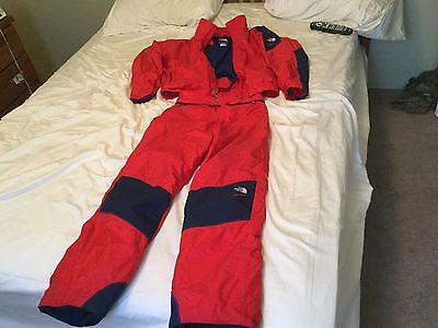 THE NORTH FACE EXTREME GEAR Gore-Tex SKI SNOWMOBILE Suit Medium m jacket pants