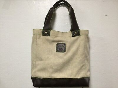 Womens Tote Patron Logo Insulated Removable Liner Cooler Shopper Beige    H9