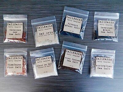 Salty Sampler 8 Pack • Free Shipping • SaltNerds • Gourmet Salt • Foodie Gift Gourmet Salt Sampler