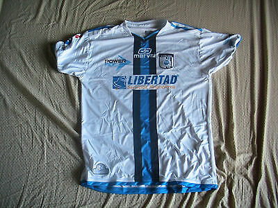 Team Queretaro White Mens Official Soccer Jersey Marval Size L Visita 2012 image