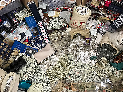 Estate Sale Old Silver Us Coins Set Gold Bullion Lot  999 Money Collection Hoard