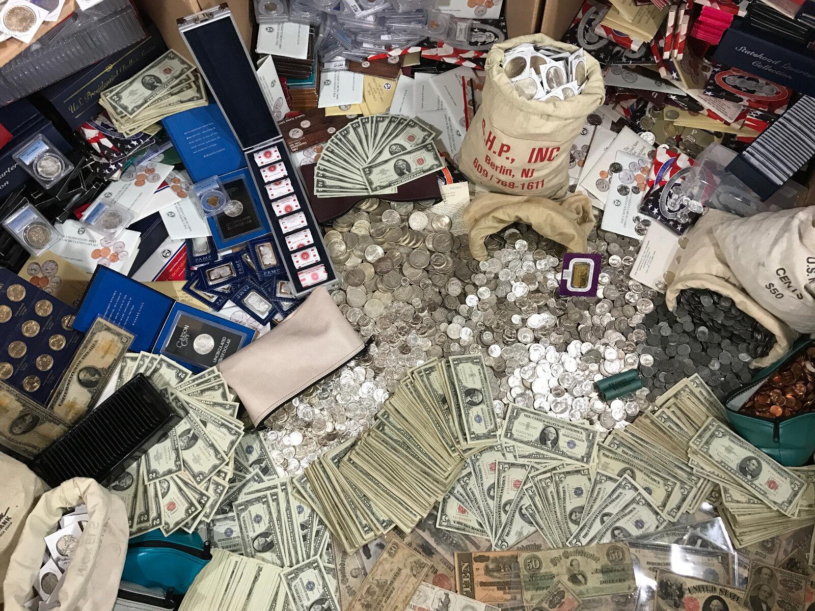 ESTATE SALE OLD SILVER US COINS SET GOLD BULLION LOT .999 MONEY COLLECTION HOARD
