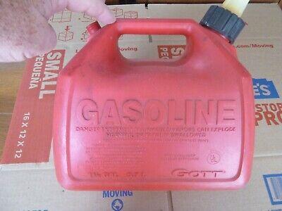 Rubbermaid Gott 1.5 Gallon Vented Gas Fuel Can With Spout 1216 Usa No Vent Cap