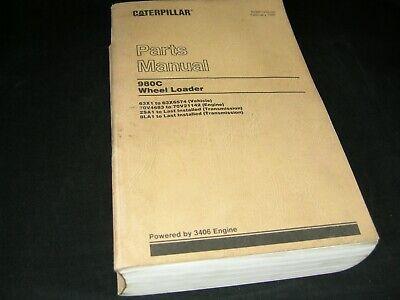 Cat Caterpillar 980c Wheel Loader Parts Manual Book Catalog Sn 63x Oem